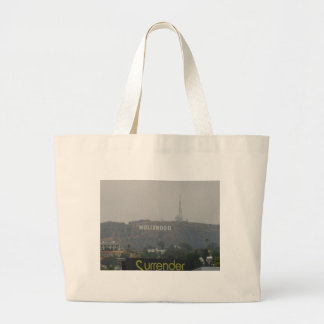 Hollywood Sign on the Hills Canvas Bags