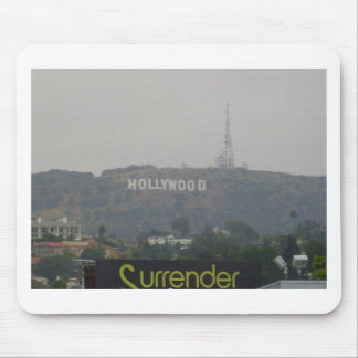 Hollywood Sign on the Hills Mouse Pad