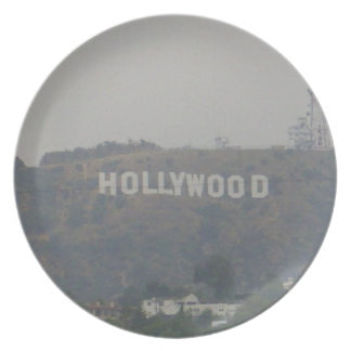 Hollywood Sign on the Hills Plate