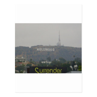 Hollywood Sign on the Hills Postcard