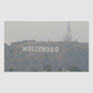 Hollywood Sign on the Hills Rectangular Sticker