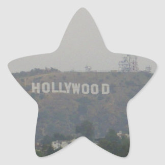 Hollywood Sign on the Hills Star Sticker