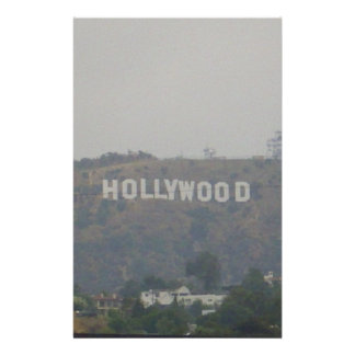 Hollywood Sign on the Hills Stationery