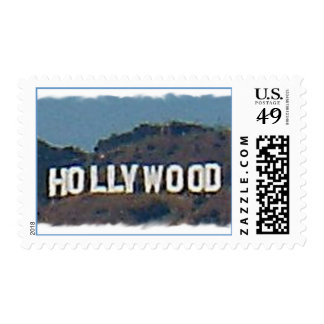 Hollywood Sign Postage Stamp