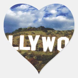 Hollywood sign usa americana hoolywoodland movies heart sticker