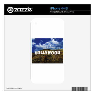 Hollywood sign usa americana hoolywoodland movies skins for iPhone 4