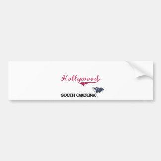 Hollywood South Carolina City Classic Bumper Sticker