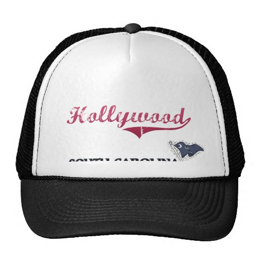 Hollywood South Carolina City Classic Mesh Hats