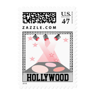 Hollywood Stage Lights Travel trip CA SoCal Stamps