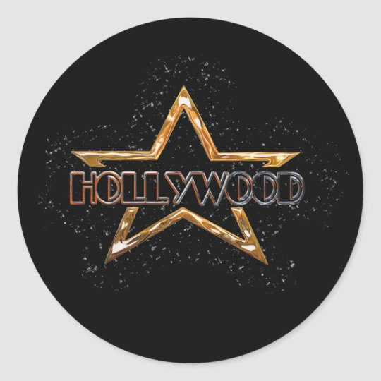 Hollywood Star Classic Round Sticker