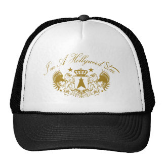 Hollywood Star crown winged lions gold Trucker Hat
