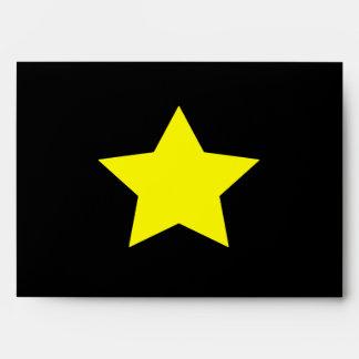Hollywood star envelope A7 greeting card (Black)