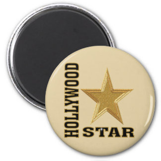 Hollywood Star 2 Inch Round Magnet