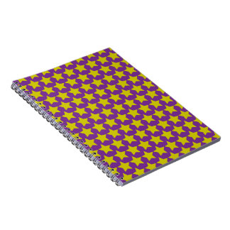 Hollywood star notebook (purple & yellow)