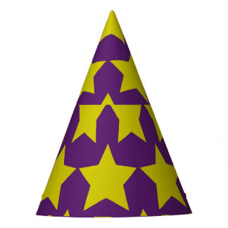 Hollywood star paper hat (purple)