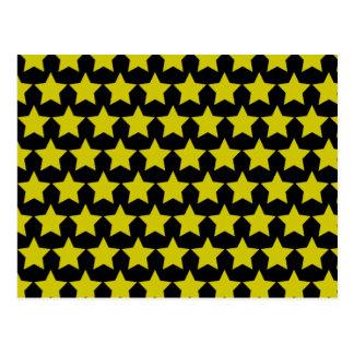Hollywood star postcard (black & Yellow)