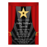 Hollywood Star Red Curtains Sweet 16 Birthday Card