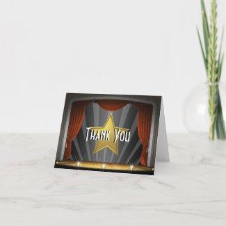 Hollywood Star Thank You Card card