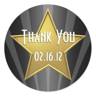 Hollywood Star Thank You Sticker sticker