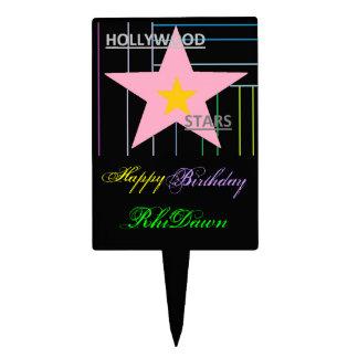 HollyWood Stars cake topper