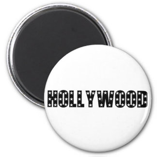 Hollywood Stars Sign 2 Inch Round Magnet