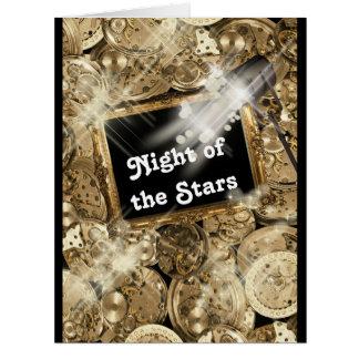 Hollywood stars steampunk gold black card