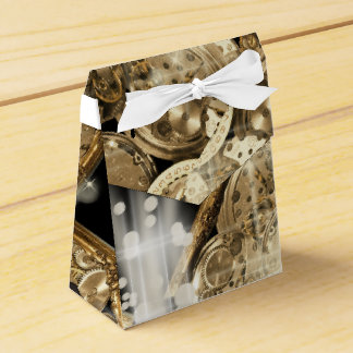 Hollywood stars steampunk gold black favor box