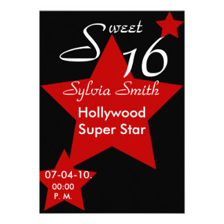 Hollywood Super Star Invitation-Customize