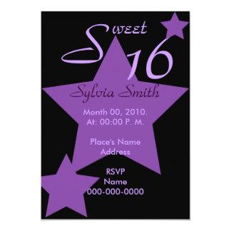 Hollywood Super Star Invitation-Customize Card
