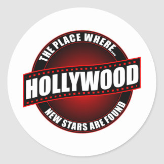Hollywood - The Place Where... New Stars Are Found Classic Round Sticker