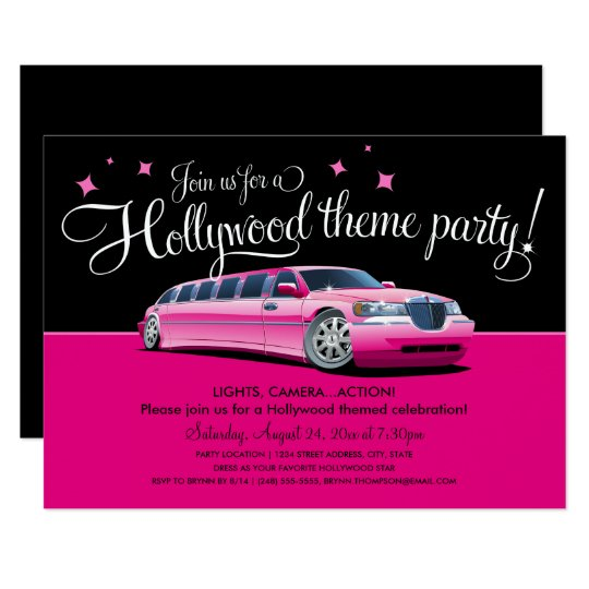 Perfekt Hollywood Theme Party Invitations