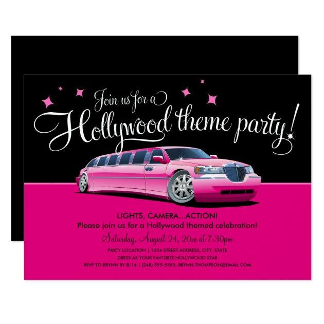 hollywood theme party invitations  zazzle, party invitations