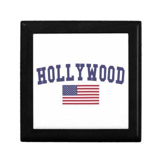 Hollywood US Flag Jewelry Box