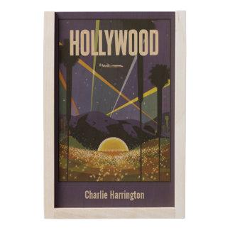 Hollywood USA vintage custom name wooden gift box