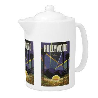 Hollywood USA Vintage Travel teapot