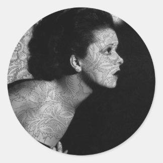 Hollywood Vintage Clara Round Stickers