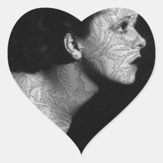 Hollywood Vintage Clara Heart Sticker