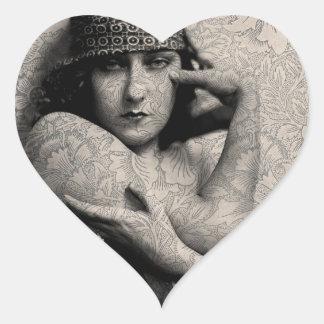Hollywood Vintage Gloria Heart Sticker