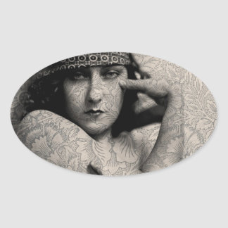 Hollywood Vintage Gloria Oval Sticker