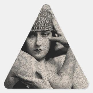 Hollywood Vintage Gloria Triangle Sticker
