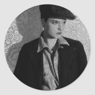 Hollywood Vintage Louise Classic Round Sticker