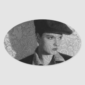 Hollywood Vintage Louise Oval Sticker
