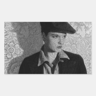 Hollywood Vintage Louise Rectangular Sticker