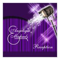 Hollywood wedding reception purple custom invite (<em>$2.31</em>)