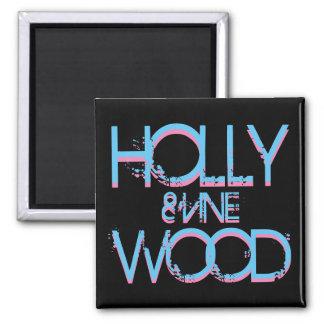 Hollywood y vid imán cuadrado