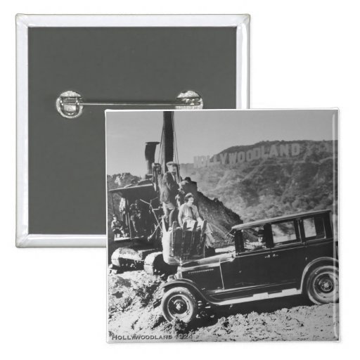 Hollywoodland 1924 pin cuadrada 5 cm
