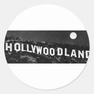Hollywoodland Classic Round Sticker