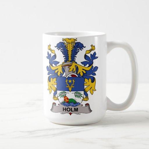 Holm Family Crest Classic White Coffee Mug