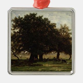 Holm Oaks, Apremont, 1850-52 Metal Ornament