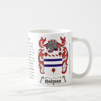 Holman, el origen, significado y el escudo taza